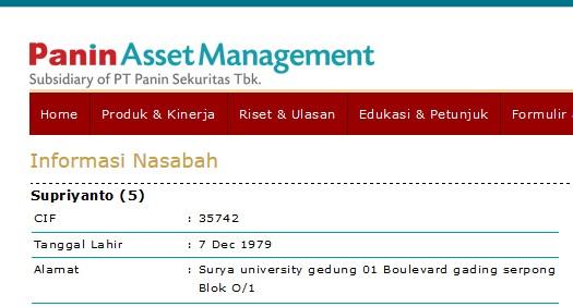 info nasabah